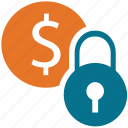 coin, dollar sign, finance, security icon