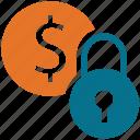 coin, dollar sign, finance, security