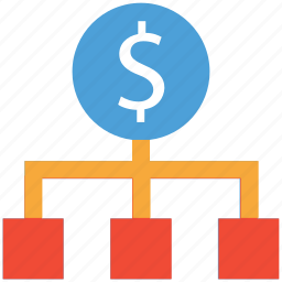 business, dollars, financial, hierarchy icon