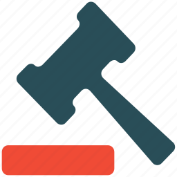 hammer, justice, law, tool icon