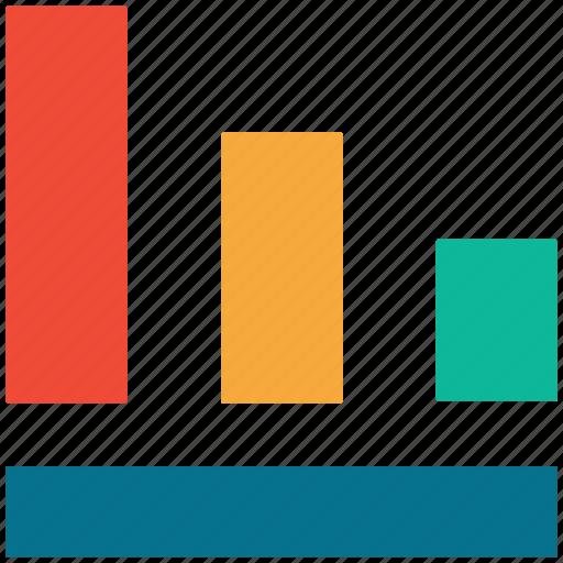 analytics, bar, descending, statistics icon