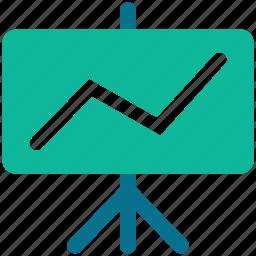 ascending, benefit, business, presentation icon