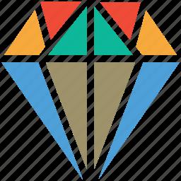 diamond, gem, jewel, jewelry icon
