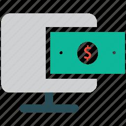 display, dollar, finance, monitor icon
