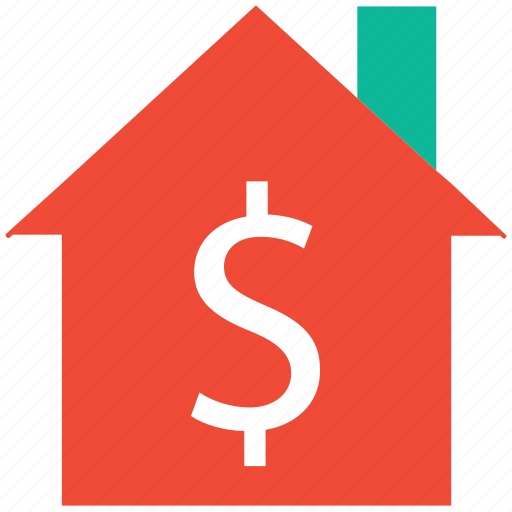 dollar sign, house, payment, property icon