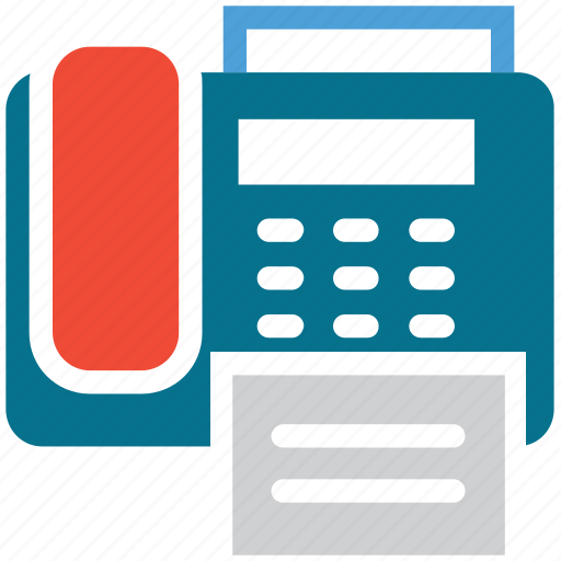 fax, printer, telegram, telephone icon