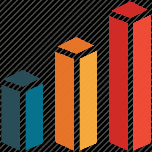 ascending, bar, business, profit icon