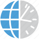 international time, schedule, time, world clock icon