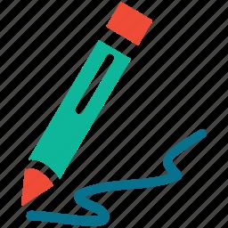 draw, line, pencil, write icon