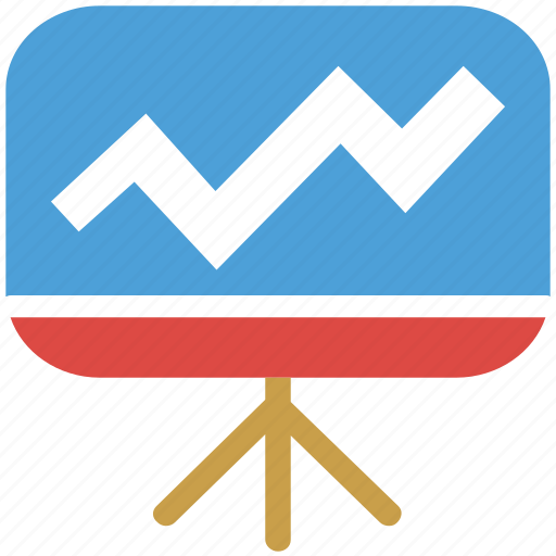 easel, graph, graphic, project icon