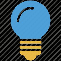 bulb, electric, light, light bulb icon