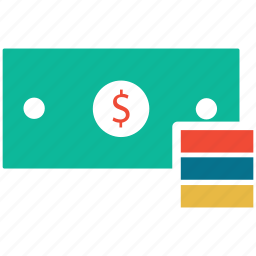 currency, dollars, finance, money icon