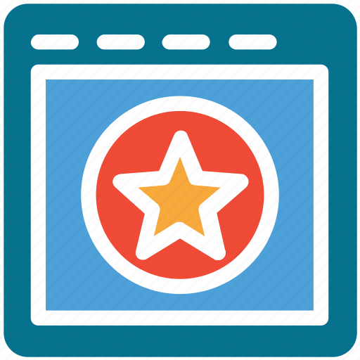 browser, star displaying, webpage, website icon