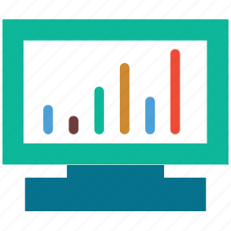 business, graph, presentation, statistic icon