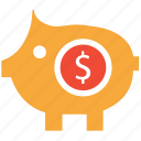 bank, piggy, piggybank, savings icon
