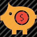 bank, piggy, piggybank, savings icon