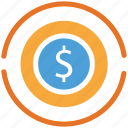 coin, currency, dollar, dollar sign icon
