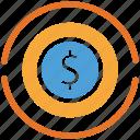 coin, currency, dollar, dollar sign