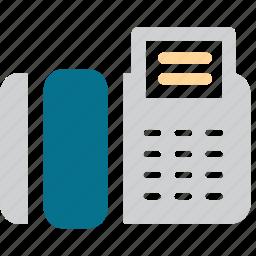 communication, fax, fax machine, telex icon