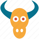 animal, bull, bull head, bulls head icon