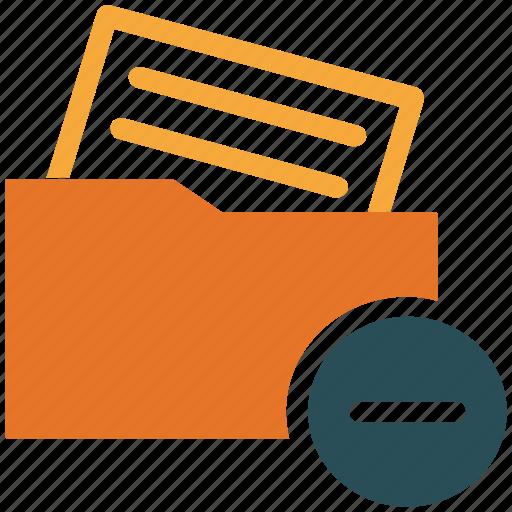 delete document, file, folder, remove document icon