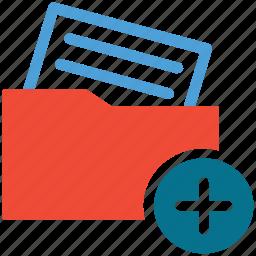 add document, add sign, document, folder icon