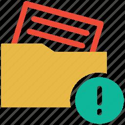 error, error in document, folder, wrong document icon