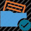 folder, document, checked, read document