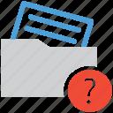 document, file, unknown, unread