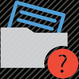 document, file, unknown, unread icon