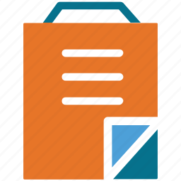 document, notebook, notepad, paper icon