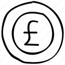 coin, currency, euro, finance icon
