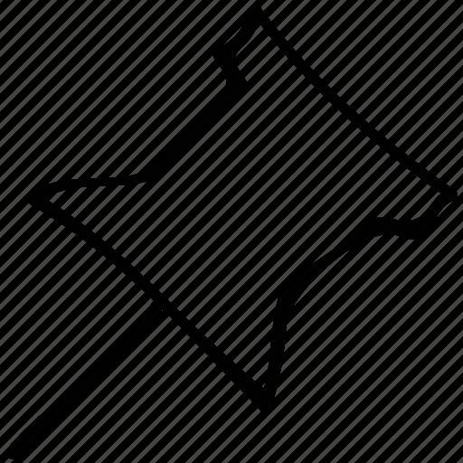 mapmarker, pin, pushpin, thumbtack icon