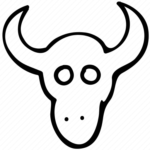 animal, bull, bull head, farm icon