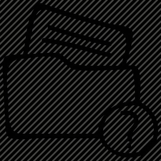 document, file folder, unknown, unread icon