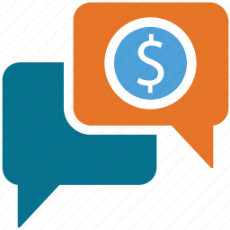 business chat, business deal, chat, dollar sign icon