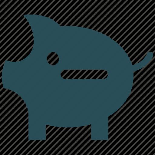 minus sign, piggy, piggy bank, zero balance icon