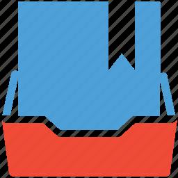 bookmark, document folder, inbox, personal document icon