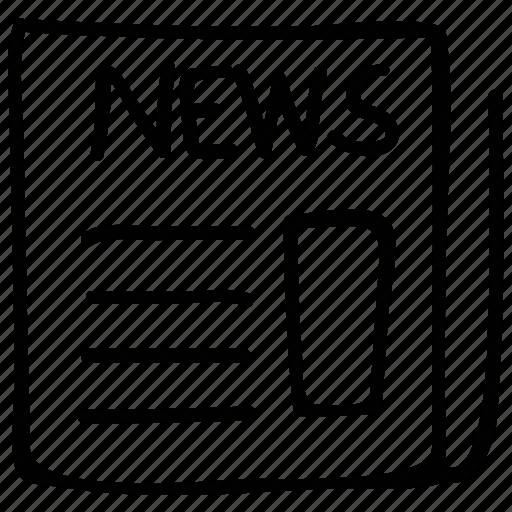 magazine, news, newspaper, newsprint icon