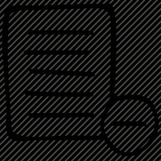cancel, document, remove, trash icon