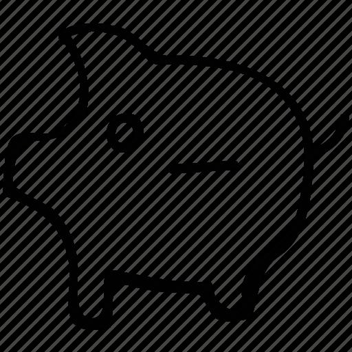 piggy, piggybank, remove money, zero balance icon