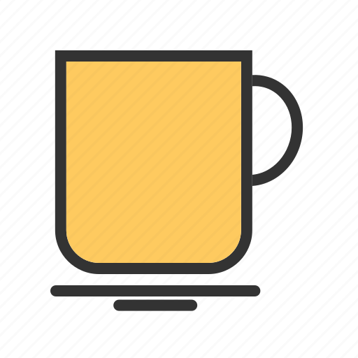 beverage, cup, mug, object, paper, sketch icon