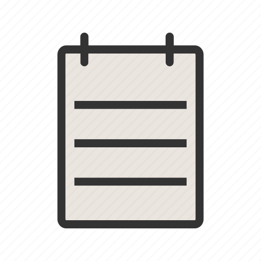list, note, notepad, notepaper, notes, page, paper icon