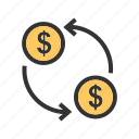 banking, convert, currency, dollar, exchange, money