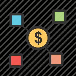 business, communication, finance, financial, market, money icon