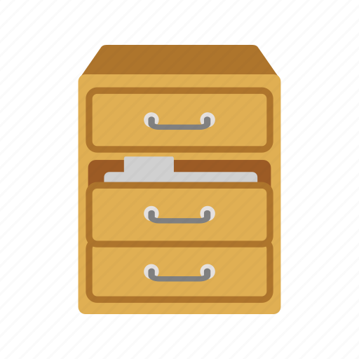 cabinet, drawer, file, files, filing, office, open icon