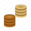 business, coin, coins, currency, finance, money, stack icon