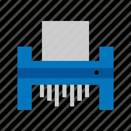 business, cut, document, paper, shredder, shredding icon