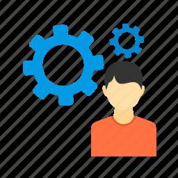 analysis, business, data, development, magnifying, using icon