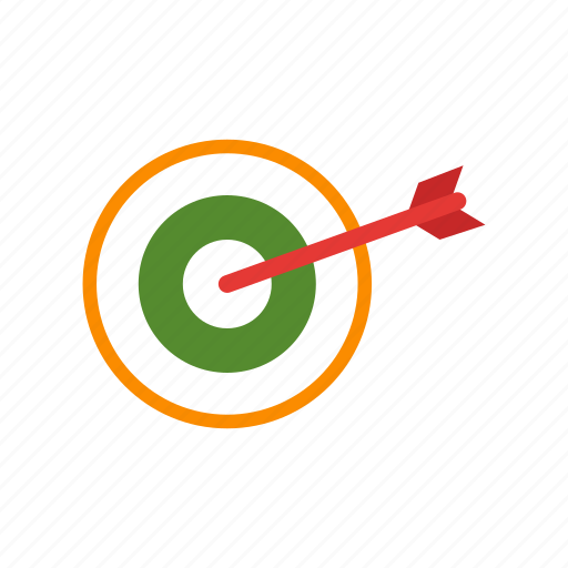 accuracy, arrow, center, dart, hit, success, target icon